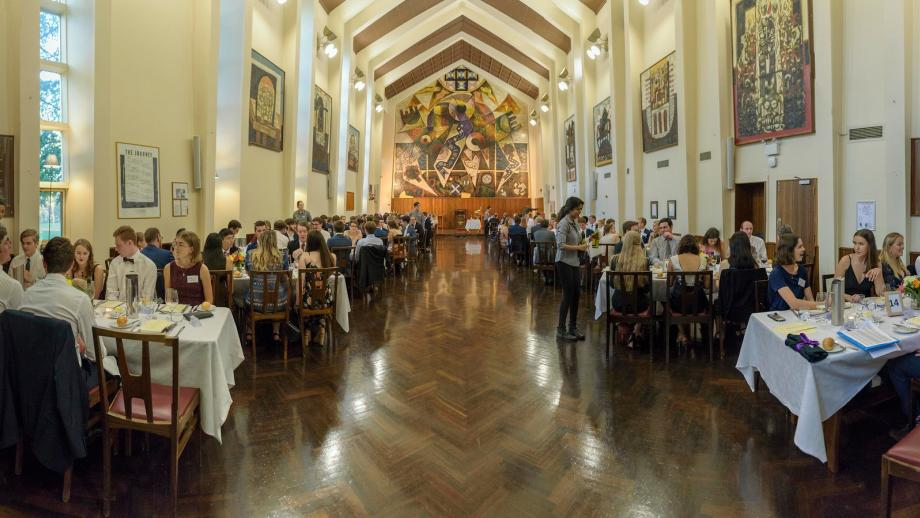 The Great Hall at University House has hosted the annual Commencement Dinner since the Scholarship's beginnings in 2014